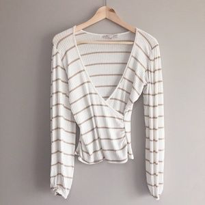 Willow & Root long sleeve striped shirt